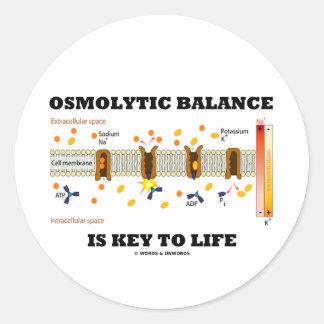 Osmolytic Balance Is Key To Life (Na-K Pump) Round Sticker