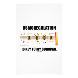 Osmoregulation Is Key To My Survival Custom Stationery