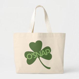 O'Snap funny st Patricks day Jumbo Tote Bag
