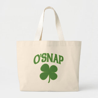O'Snap irish Shamrock Large Tote Bag