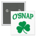 O'Snap Shamrock 15 Cm Square Badge