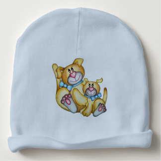 OSo Cute Dog and Cat Reversible Baby Beanie