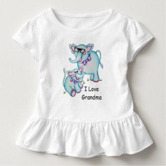 """OSo Cute """"I Love Grandma,"""" Elephant Ruffled Tee"""