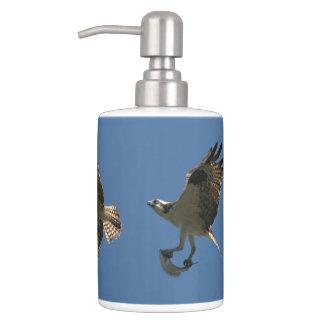 Osprey Bird Fish Animals Wildlife Bath Set