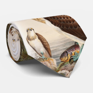Osprey Sea Hawk John Gould Birds of Great Britain Tie