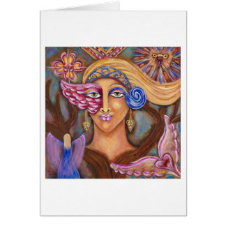 """Osprey Woman"" Greeting Card"