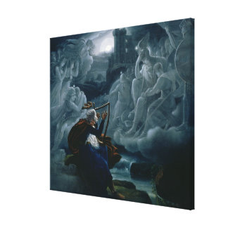 Ossian conjures up the spirits canvas print