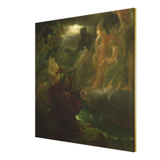 Ossian Conjuring up the Spirits of the River Gallery Wrap Canvas