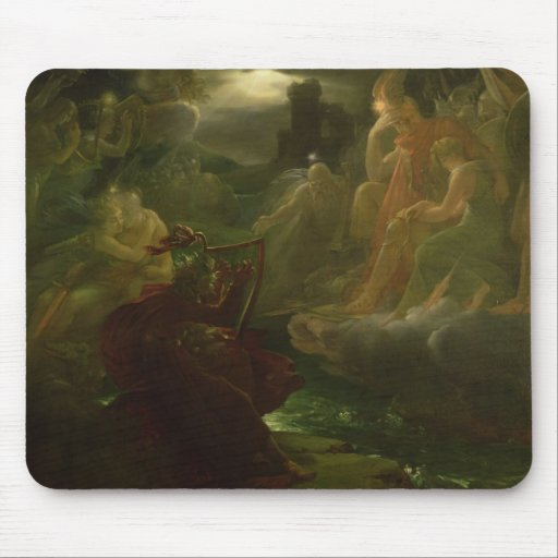 Ossian Conjuring up the Spirits of the River Mousepad