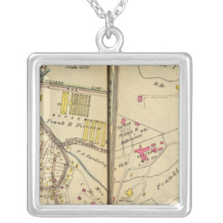 Ossining, New York 2 Silver Plated Necklace