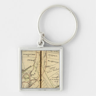 Ossining, New York Silver-Colored Square Key Ring