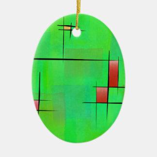 Ossipiana V1 - digital abstract Ceramic Oval Decoration