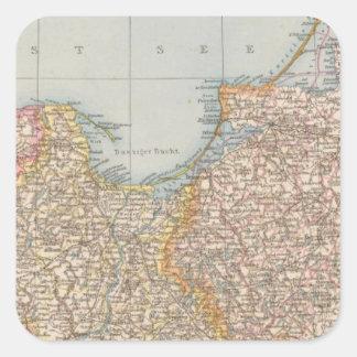 Ost u Westpreussen, East and West Prussia Square Sticker