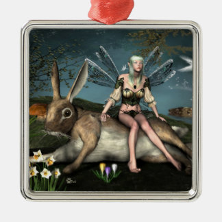 Ostara Fae and March Hare Ornament