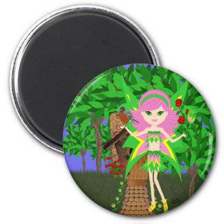 Ostara Faery and Birdhouse Cottage Magnet Magnet