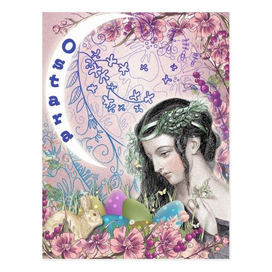Ostara Pagan Fantasy Art Postcard