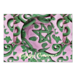 Ostara Spring Equinox Single Page Greeting 9 Cm X 13 Cm Invitation Card