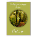 Ostara Spring Solstice with spring scenery Cards