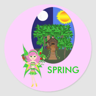 Ostara the Faery Goddess of Spring Sticker