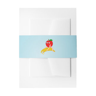 Osteopath Fruit Funny Apple Straightening a Banana Invitation Belly Band