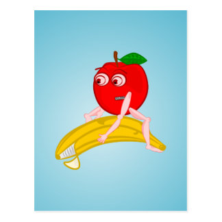 Osteopath Fruit Funny Apple Straightening a Banana Postcard