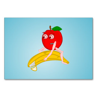 Osteopath Fruit Funny Apple Straightening a Banana Table Cards