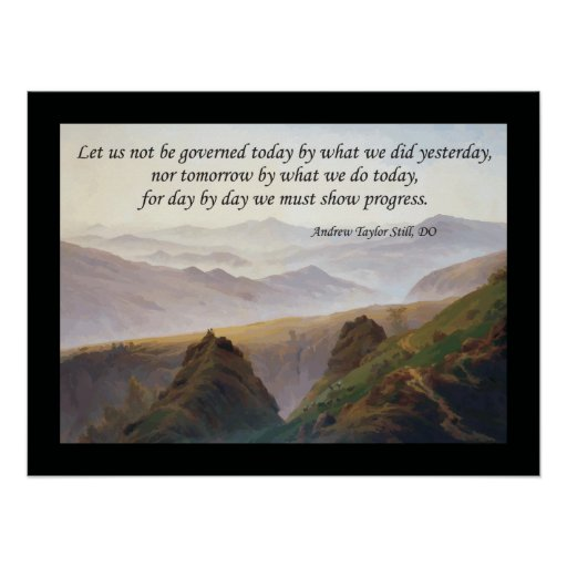 Osteopathic Quote by A.T. Still Poster