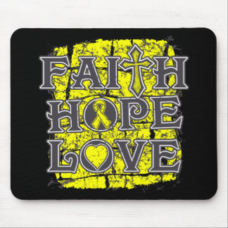 Osteosarcoma Faith Hope Love Mouse Pads