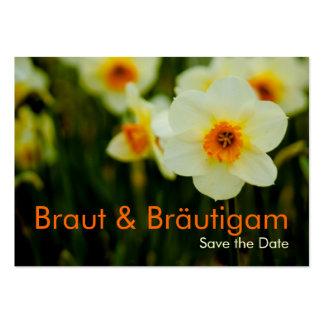 Osterglocken • Save the Date Mini Karten Business Card Template
