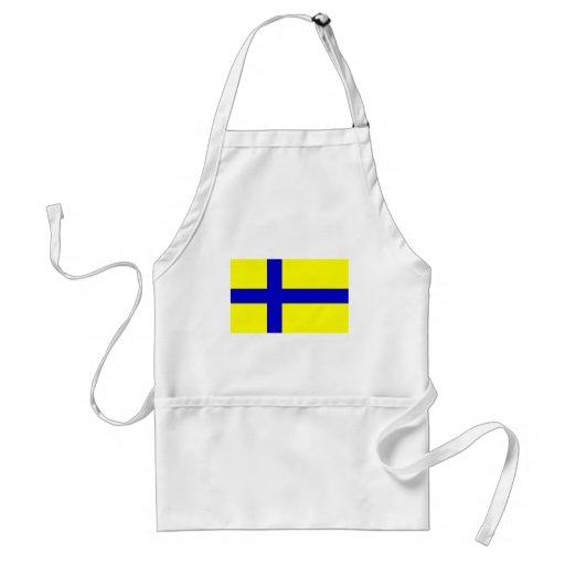 Ostergotland clear, Sweden Apron
