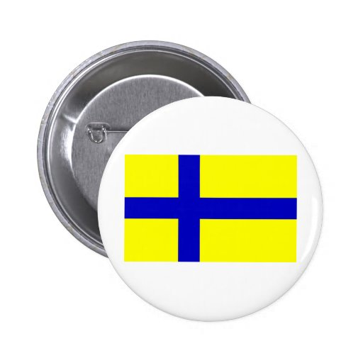 Ostergotland clear, Sweden Button