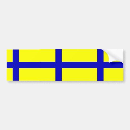 Ostergotland clear, Sweden Bumper Sticker