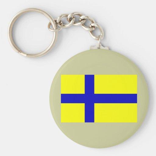 Ostergotland clear, Sweden Keychains