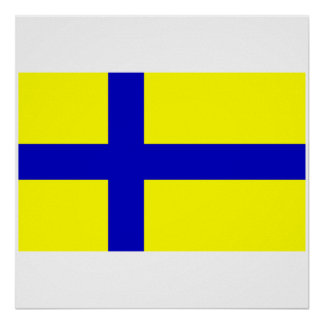 Ostergotland clear Sweden Poster