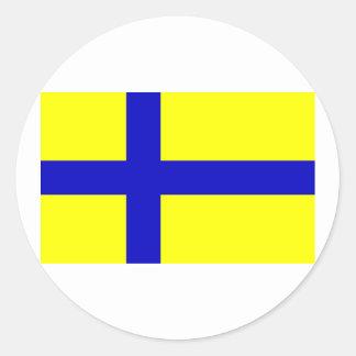 Ostergotland clear, Sweden Round Sticker