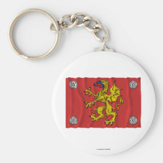 Östergötlands län waving flag key chains