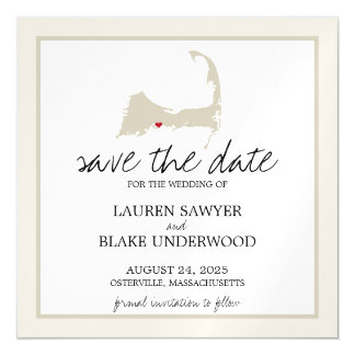 Osterville Cape Cod Wedding Save the Date Magnetic Invitations