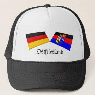 Ostfriesland, Germany Flag Tiles Trucker Hat