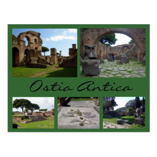 Ostia Antica Collage (Roman Ruins), Rome Postcard