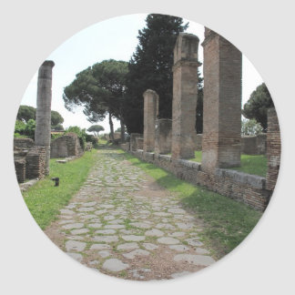 Ostia - Harbour City of Ancient Rome Classic Round Sticker