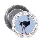Ostrich 6 Cm Round Badge