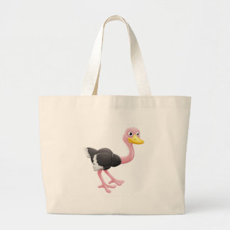 Ostrich Animal Cartoon Character Large Tote Bag