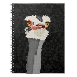 Ostrich Black Notebook