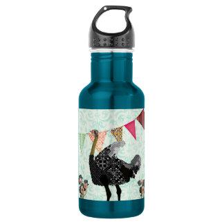 Ostrich Blue Damask Liberty Bottle 532 Ml Water Bottle