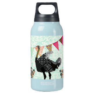 Ostrich Blue Damask Liberty Bottle 10 Oz Insulated SIGG Thermos Water Bottle