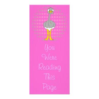 Ostrich Bookmark Template Rack Card