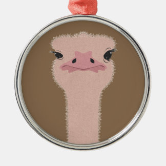 Ostrich funny face christmas ornament
