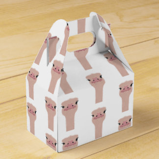 Ostrich funny face favour box