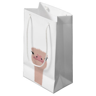 Ostrich funny face small gift bag
