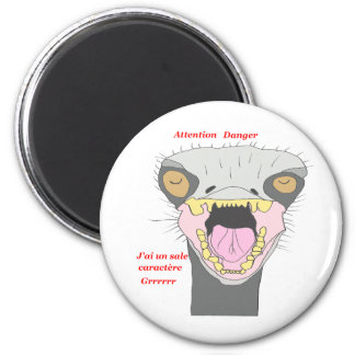 OSTRICH IN ANGER 1.PNG MAGNETS